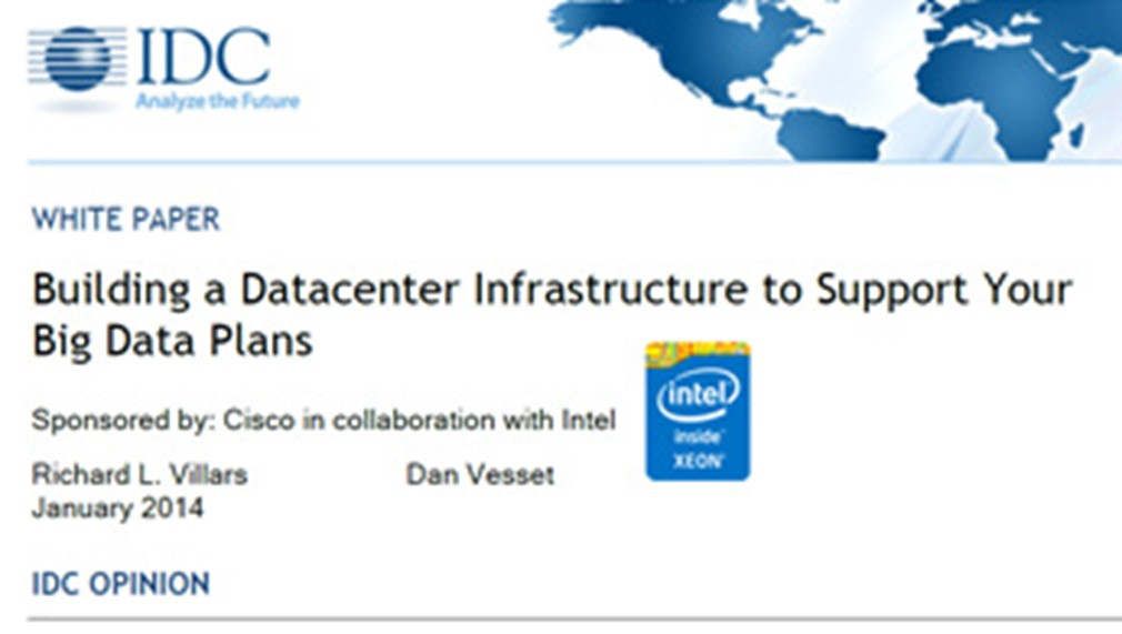 Building a Datacenter Infrastructure to Support Your Big Data Plans