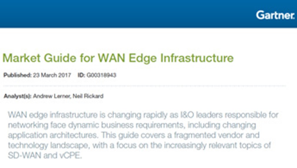 Market Guide for WAN Edge Infrastructure