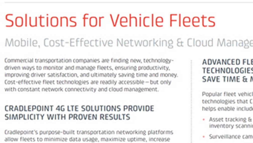 Solutions for Vehicle Fleets & Commercial Transportation