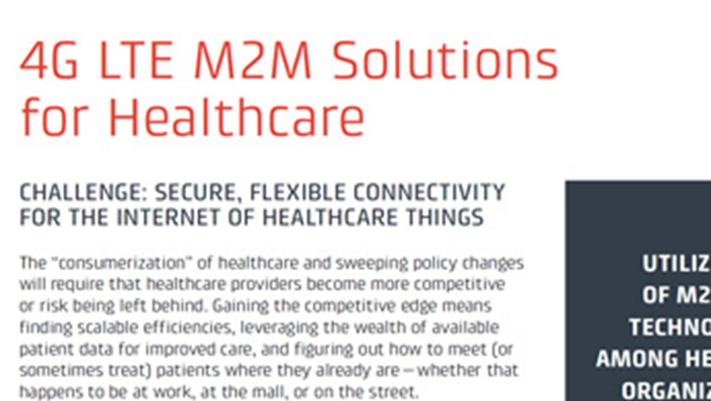 4G LTE M2M Solutions for Healthcare