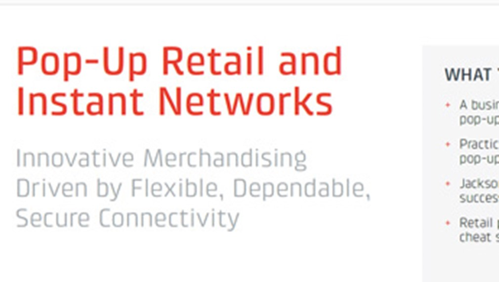 Pop-Up Retail & Instant Networks