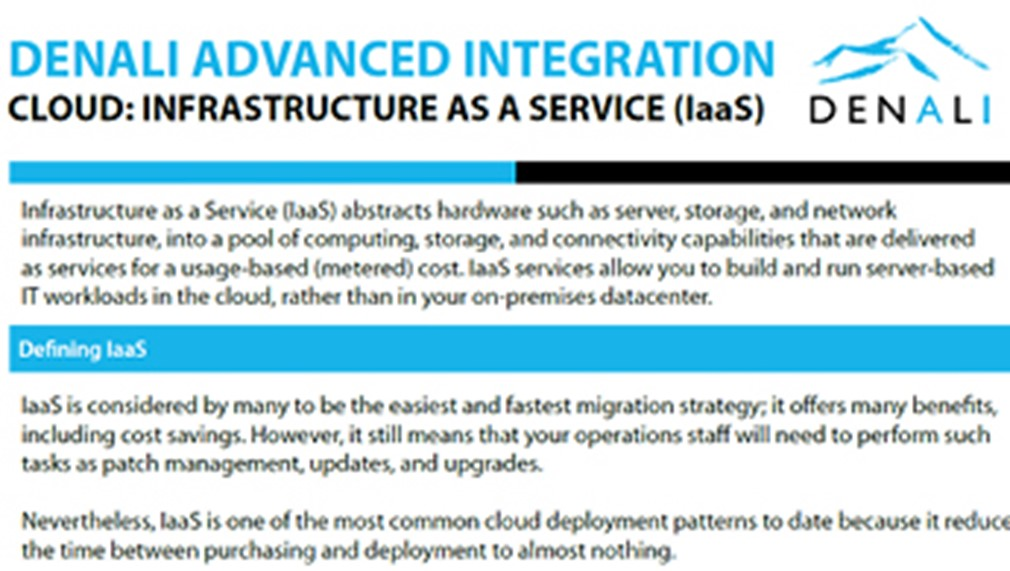 Denali Cloud: Infrastructure as a Service (IaaS)