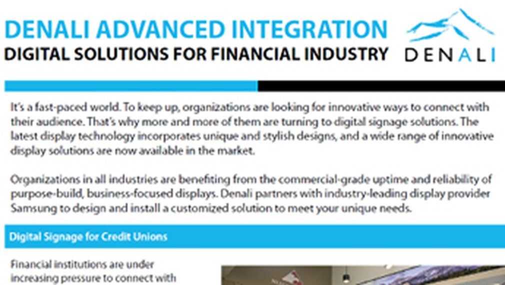 Denali Digital Solutions for Financial Industry